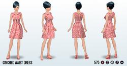 60sStarlet - Cinched Waist Dress