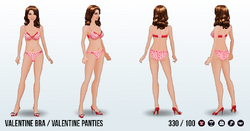 IHeartAccessoriesSpin - Valentine Bra and Panties