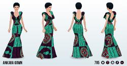 Kwanzaa - Ankara Gown