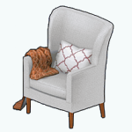 ChillyEssentialsSpin - Cable-Knit Blanket Chair brown