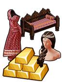 GoldDeal - 160606 - Summer Splendor Gown - Darjeeling Daybed - Bejeweled Curls