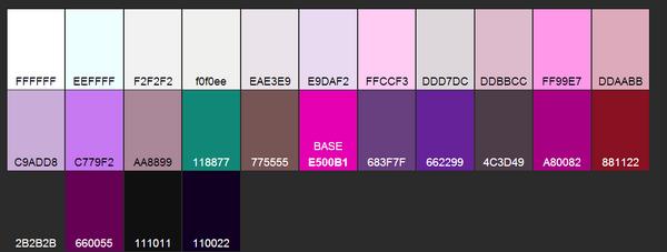 Color scheme for E500B1