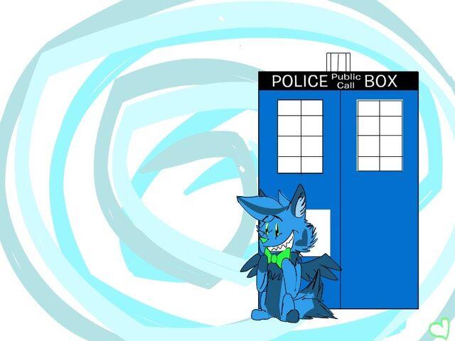 File:Kaymen and TARDIS.jpg