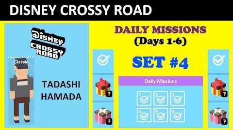Disney Crossy Road Daily Missions Set -4 (Unlocking Tadashi Hamada, Missions Lists)