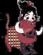 Vanellope dressed as Pumbaa 4