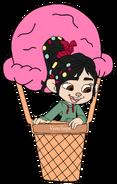 Vanellope on a Ice-Cream Balloon