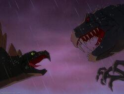 Stegosaurus vs. Tyrannosaurus Rex