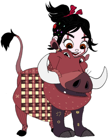 File:Vanellope dressed as Pumbaa 4.png