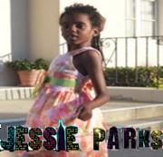 Jessie Parks with JESSIE Letters