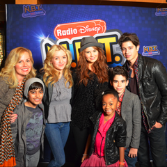 Cast at Radio DIsney!