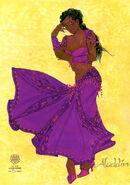 Aladdin Broadway Costume Concept Art Female Marketplace 2
