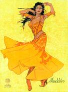 Aladdin Broadway Costume Concept Art Female Marketplace 1