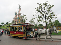 Horse Tram at Disneyland Paris 101