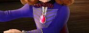 Sofia In Her Library Suit Wearing Her Pink Amulet