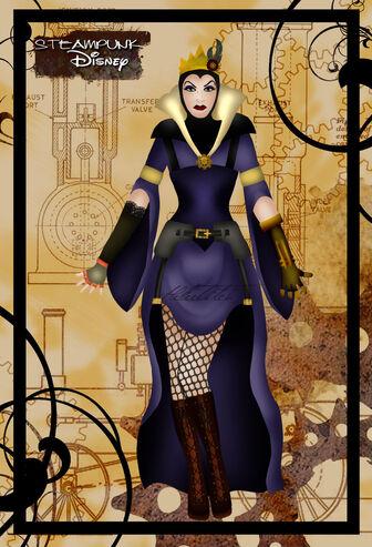 Steampunk queen grimhilde by helleetitch-d3f5ecz