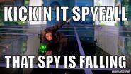Spy falling