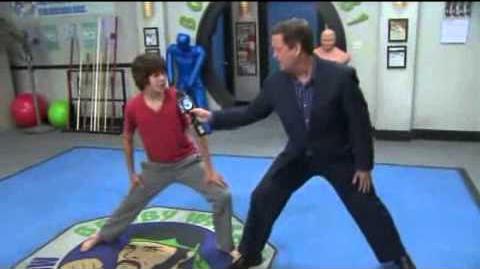 On the set of Kickin' It, Sam talks with resident black belt Leo Howard