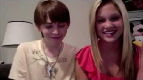 Olivia Holt & Dylan Riley Snyder SHOUT OUTS july 2011