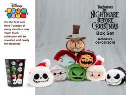 DisneyTsumTsum PlushSet NightmareBeforeChristmas uk 2016 Mini Banner