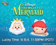 DisneyTsumTsum Lucky Time International LittleMermaid LineAd 20160801