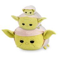 StarWarsTsumTsum PlushSet Yoda MiniMediumLarge 2016