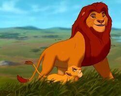 Mufasa with cub Simba