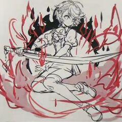 Leora = Bedivere rough illustration