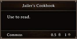 DOS Items Books Jailer's Cookbook