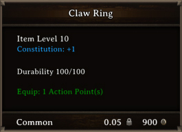 DOS Items CFTX 10.5 Claw Ring