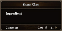 DOS Items CFT Sharp Claw