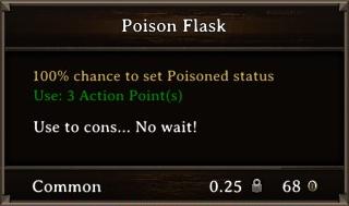 DOS Items Pots Poison Flask 1 Stats