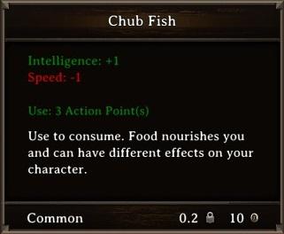 DOS Items Food Chub Fish Stats
