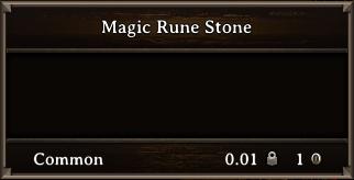 DOS Items Quest Magic Rune Stone