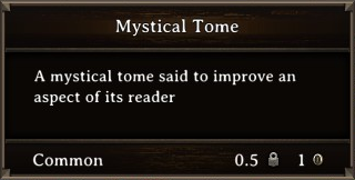 DOS Items Books Mystical Tome Stats