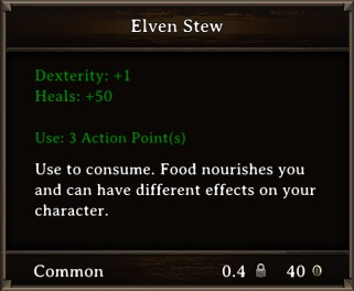 DOS Items Food Elven Stew Stats