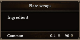 DOS Items CFT Plate Scraps