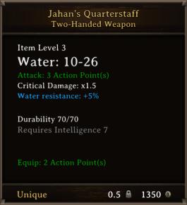 DOS Items Unique Jahan's Quarterstaff