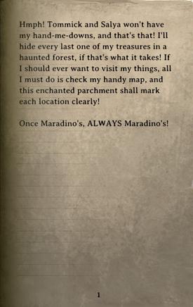 DOS Items Books Maradino Treasure Hunt Flyer Page