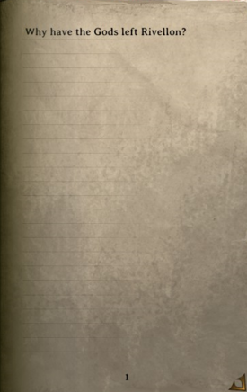 DOS Items Books Why Have the Gods left Rivellon Page1