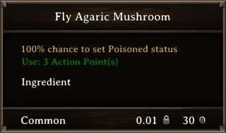 DOS Items Food Fly Agaric Mushroom Stats