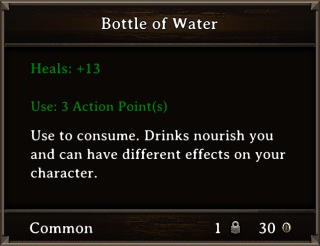 DOS Items Food Bottle of Water Stats