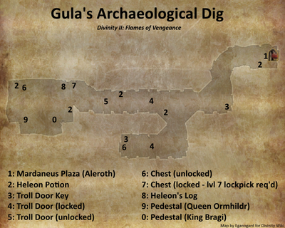 Gula's Archaeological Dig map (D2 FoV location)