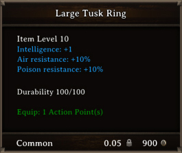 DOS Items CFTX 10.5 Large Tusk Ring