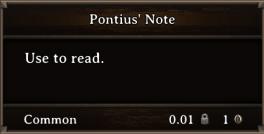 DOS Items Quest Pontius' Note