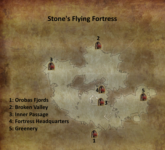 Divinity 2 Stone's Flying Fortress map