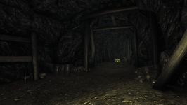 Abandoned Catacomb interior golden chest in western tunnel (D2 FoV locaton)