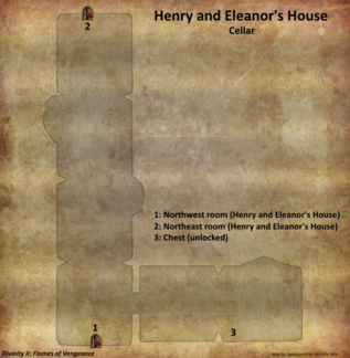 Henry and Eleanor's House cellar map (D2 FoV location)