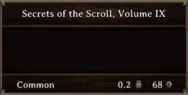 DOS Items Books Secrets Of The Scroll, Volume IX