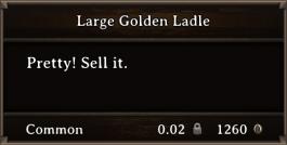 DOS Items Precious Large Golden Ladle