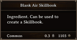 DOS Items Scrolls Blank Air Skillbook